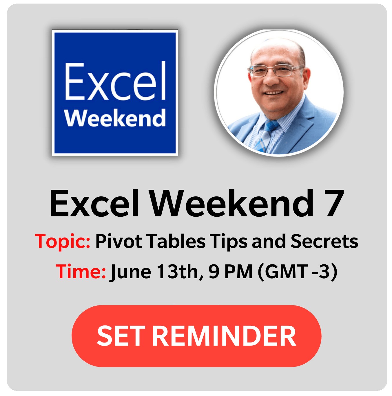 Excel Weekend - Nabil Mourad